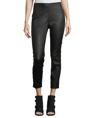Simone High-Rise Skinny Leather Pants