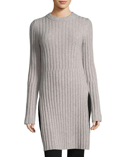 Soft Ribbed Wool Tunic
