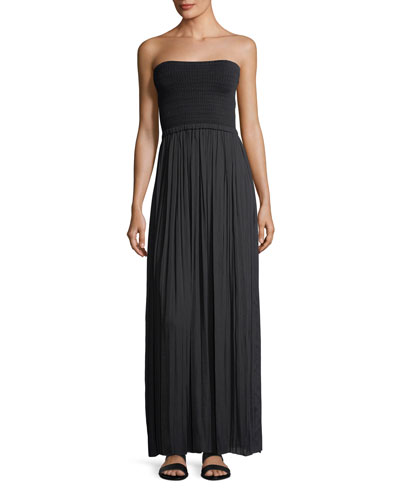Emmaline Strapless Knit Combo Maxi Dress