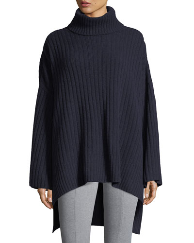 Soft Ribbed Wool Poncho