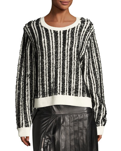Nabila Striped Wool-Knit Sweater