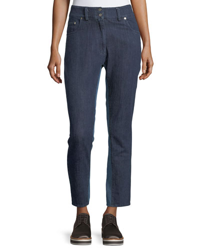 Ray High-Rise Skinny-Leg Denim Pants