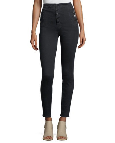 Natasha High-Waist Five-Button Skinny Jeans