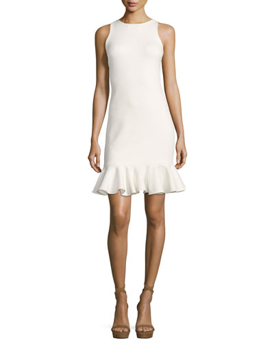 Sleeveless High-Neck Fitted Shimmer Cocktail Dress