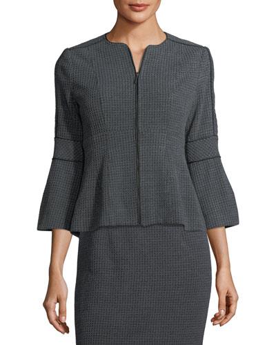 Londontown Zip-Front Knit Jacket