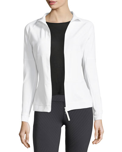 The Mid-Layer Zip-Front Mix-Knit Performance Jacket