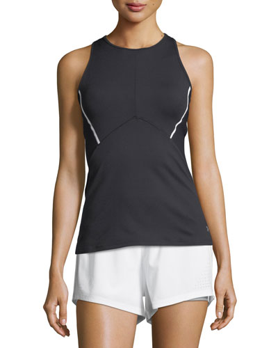 Mirror Cross-Back Fitted Performance Tank Top