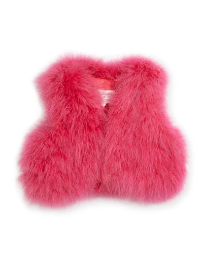 Sleeveless Feather Vest, Size 10-14