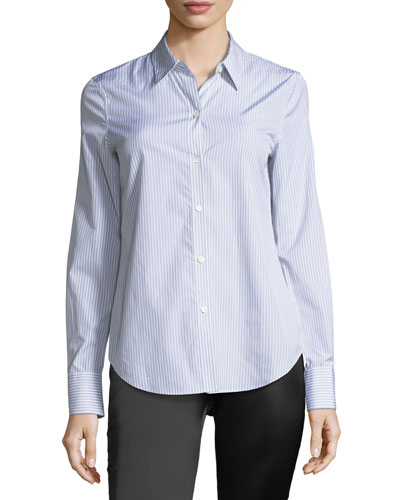 Dalton Striped Perfect-Fit Blouse