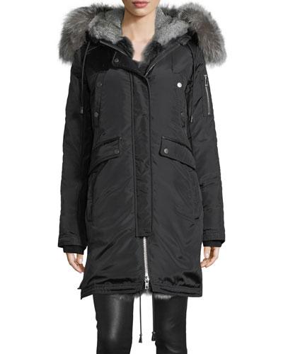 Madison Fur-Lined Parka Coat