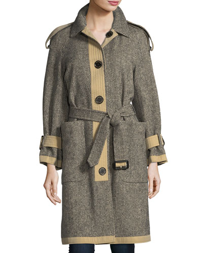 Oakville Reversible Tweed Coat