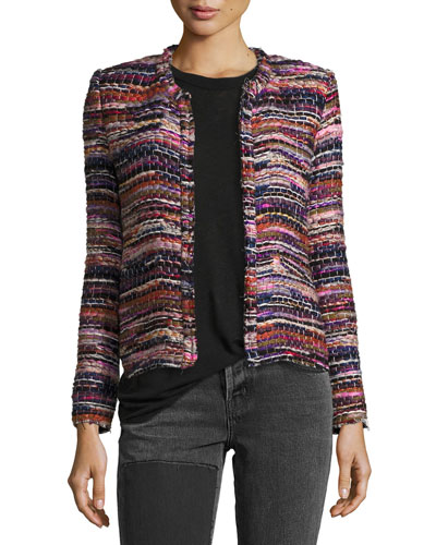 Namantha Multi-Boucle Long-Sleeve Jacket