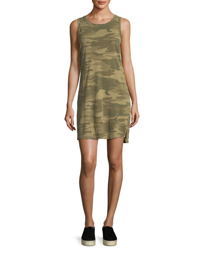 The Muscle Tee Camo-Print Dress