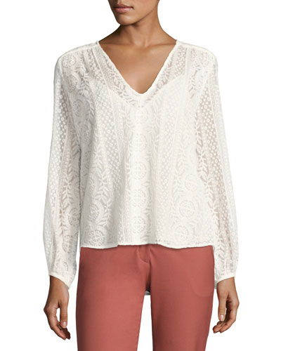 Bernetta Colemore Silk Lace Top