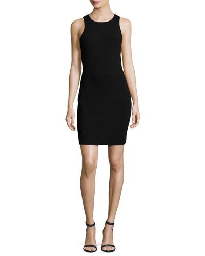 Ritter Sleeveless Body-Con Mini Dress, Black