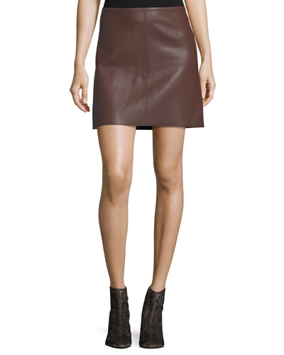Jenny Lamb Leather Mini Skirt
