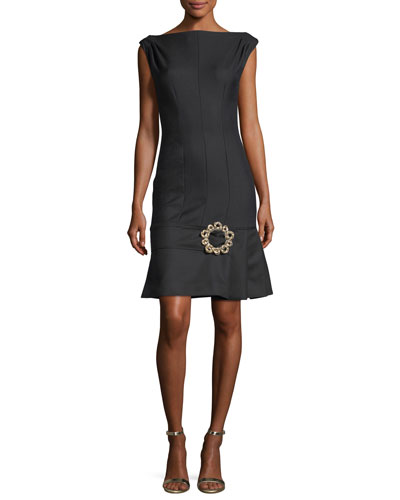 Claude Skirt-Buckle Cocktail Dress