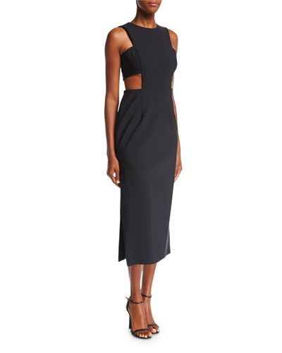 Issey Tech-Stretch Cocktail Midi Dress