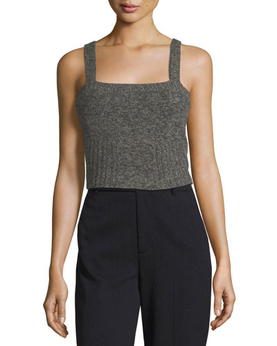Sleeveless Knit Crop Top