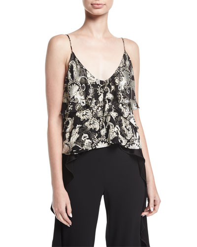 Vanessa Tiered Devoré Camisole Top