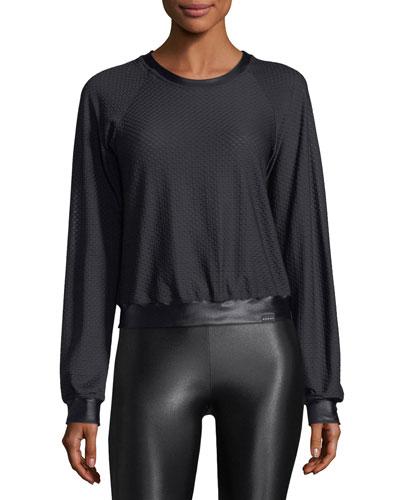 Sofia Crewneck Long-Sleeve Pullover Top