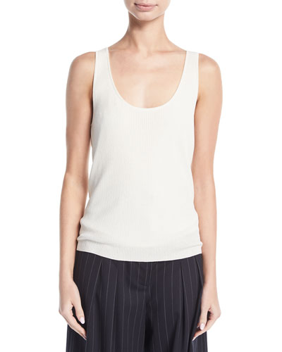 Empire Lightweight Ribbed-Knit Tank