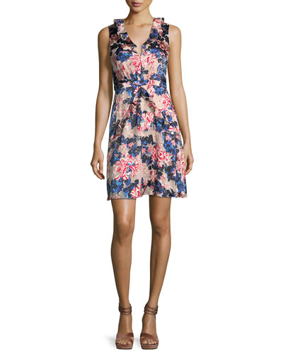 Lara Floral-Print Sleeveless Dress