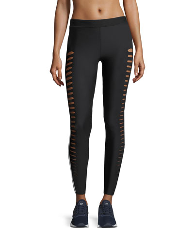 Ultra-Lux Full-Length Slash Performance Leggings
