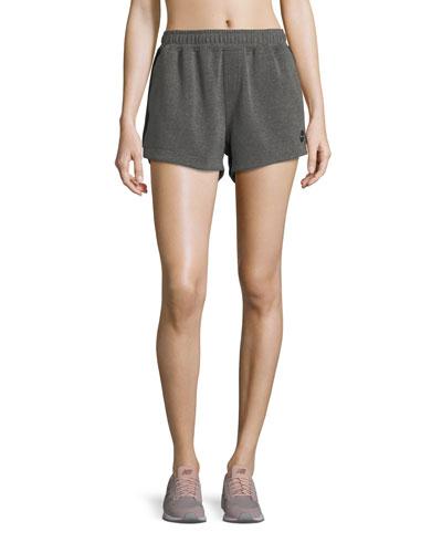Paneled Run Double-Fleece Shorts