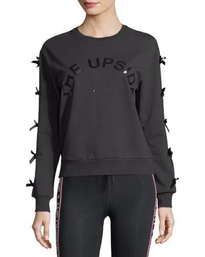 Bowie Crewneck Sweatshirt w/ Bow Details