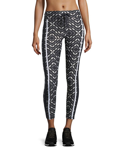 Phoenix Geometric Compression 7/8 Performance Leggings