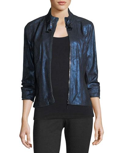 Bently Metallic-Leather Jacket