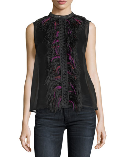 Nolan Silk Sleeveless Top