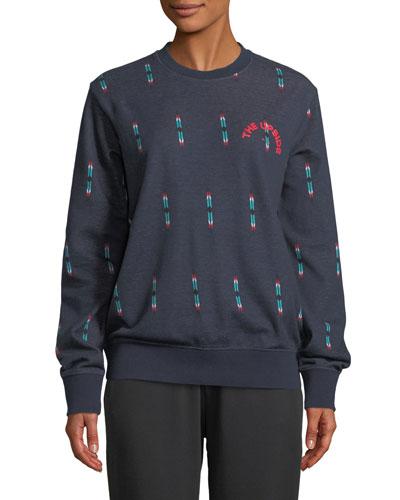 Feather Pique Crewneck Sweatshirt
