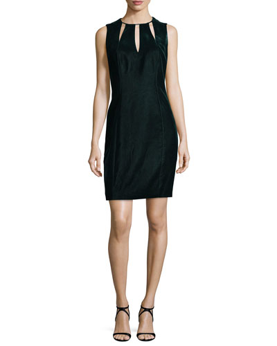 Jemra Sleeveless Velvet Dress