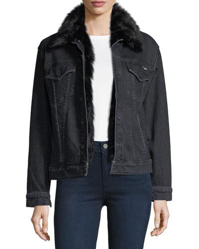 Furry Drifter Denim Jacket w/ Faux Fur