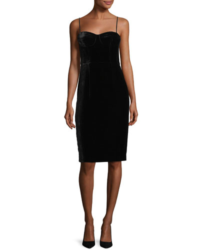 Corset Luxe Velvet Sheath Dress