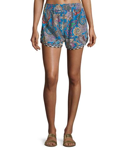 Paisley Printed Shorts
