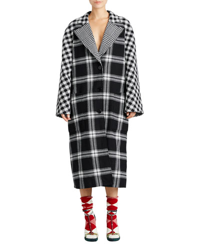 Oversized Reversible Scottish Tartan Coat