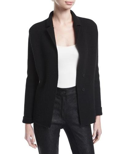 Knit Cashmere Sweater Jacket