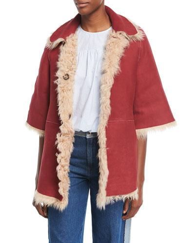 Reversible Shearling/Suede Coat