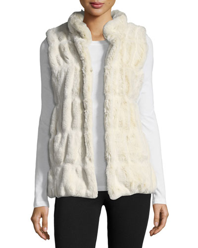 Couture Faux-Fur Stand-Collar Vest