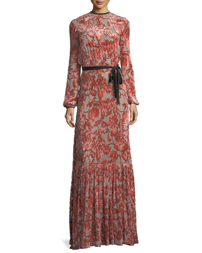 Felice Velvet Burnout Maxi Dress