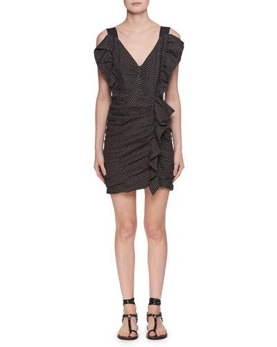Topaz V-Neck Sleeveless Ruched Short Dress