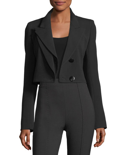 Cropped Split-Lapel Jacket