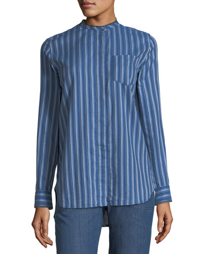 Ruby Striped Tunic Blouse