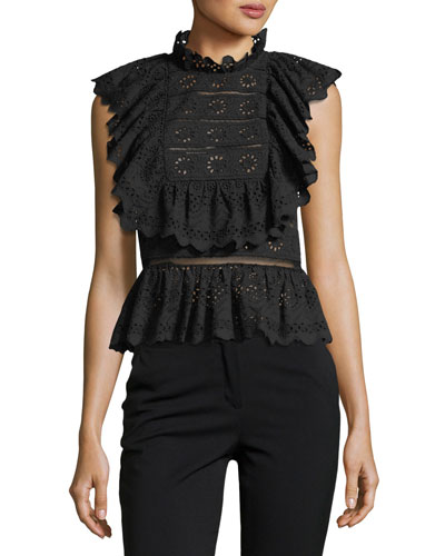 Luna Eyelet Sleeveless Top