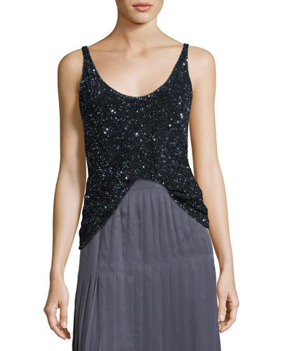 Clea Sequined Blouse
