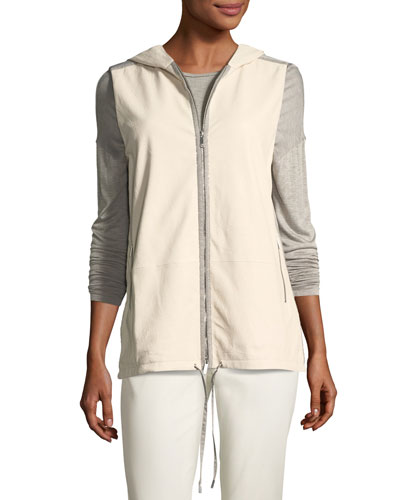 Francisco Vest w/Weathered Leather & Nylon Combo