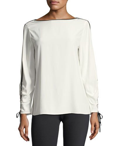 Georgina Blouse w/Contrast Tipping